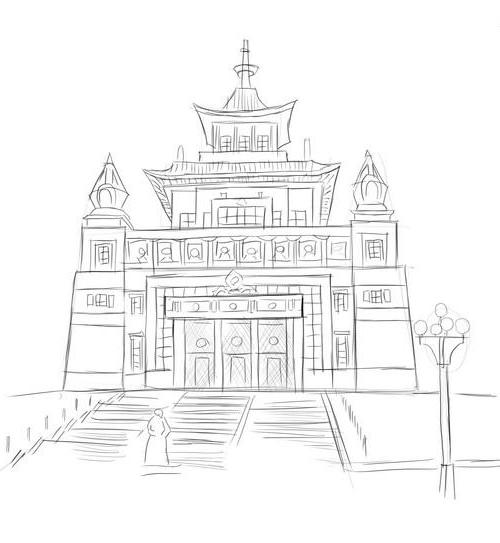 Как нарисовать храм?