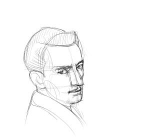 Как-нарисовать-художника-карандашом-поэтапно-3