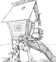 Как нарисовать избушку