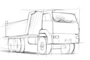Как-нарисовать-камаз-карандашом-поэтапно-2