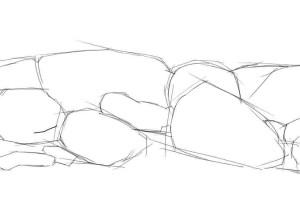 Как-нарисовать-камни-карандашом-поэтапно-2