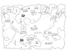 Как-нарисовать-карту-сокровищ-карандашом-поэтапно-4
