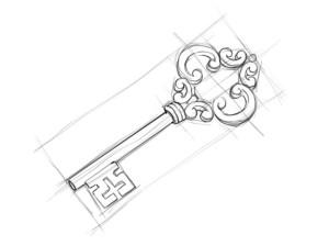 Как-нарисовать-ключ-карандашом-поэтапно-3