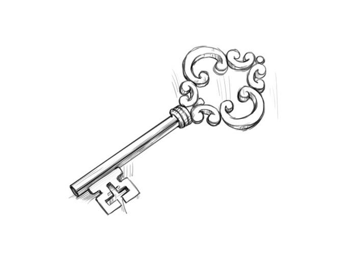Как нарисовать ключ?