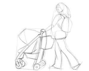 Как-нарисовать-коляску-карандашом-поэтапно-2