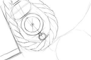 Как-нарисовать-компас-карандашом-поэтапно-2