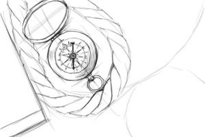 Как-нарисовать-компас-карандашом-поэтапно-3