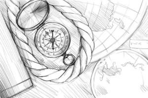 Как-нарисовать-компас-карандашом-поэтапно-4
