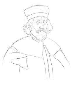 Как-нарисовать-короля-карандашом-поэтапно-4