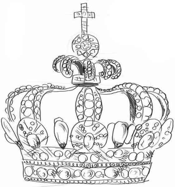Как нарисовать корону?