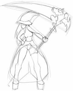 Как-нарисовать-косу-карандашом-поэтапно-2