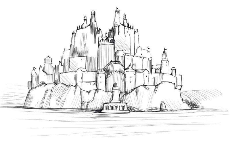 Как нарисовать крепость
