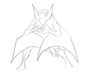Как-нарисовать-летучую-мышь-карандашом-поэтапно-2