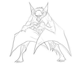 Как-нарисовать-летучую-мышь-карандашом-поэтапно-3