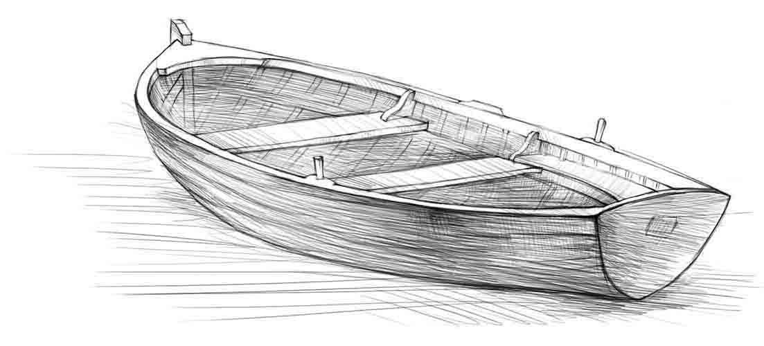Как нарисовать лодку