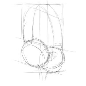 Как-нарисовать-наушники-карандашом-поэтапно-2