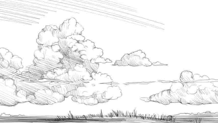 Как нарисовать небо