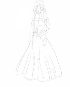 Как-нарисовать-невесту-карандашом-поэтапно-3