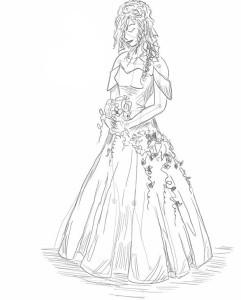 Как-нарисовать-невесту-карандашом-поэтапно-4