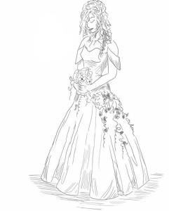 Как-нарисовать-невесту-карандашом-поэтапно-5