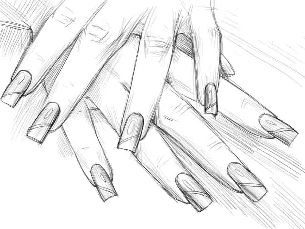 Как нарисовать ногти?