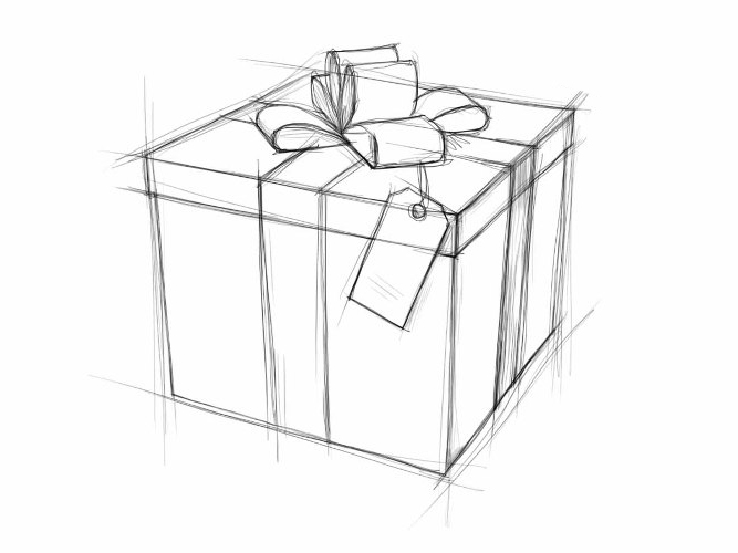 Рисунки карандашом для подарка 97