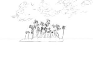 Как-нарисовать-остров-карандашом-поэтапно-3