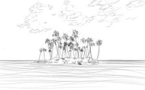 Как-нарисовать-остров-карандашом-поэтапно-4