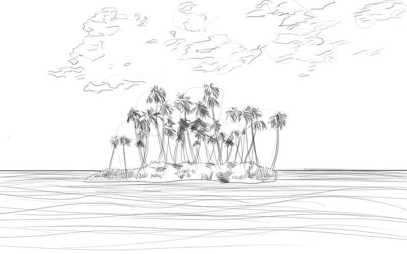 Как нарисовать остров