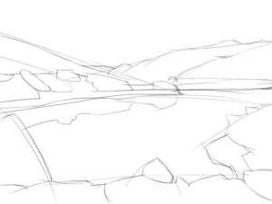 Как-нарисовать-озеро-карандашом-поэтапно-2