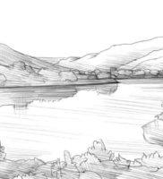 Как нарисовать озеро