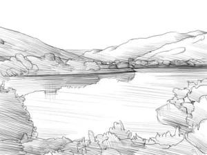 Как-нарисовать-озеро-карандашом-поэтапно-4