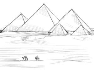 Как-нарисовать-пирамиду-карандашом-поэтапно-4