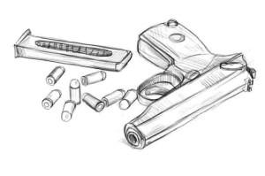 Как-нарисовать-пистолет-карандашом-поэтапно.-5