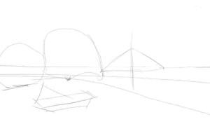 Как-нарисовать-пляж-карандашом-поэтапно-1