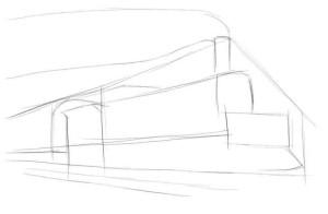 Как нарисовать метро карандашом поэтапно