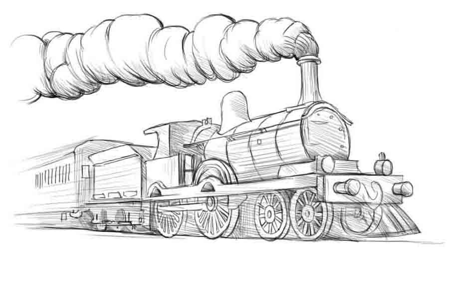 Как нарисовать поезд