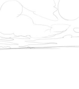 Как-нарисовать-поле-карандашом-поэтапно-1