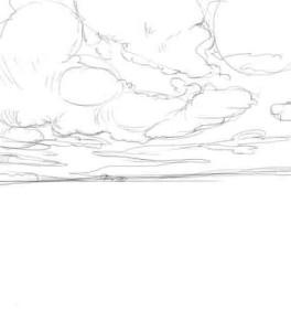 Как-нарисовать-поле-карандашом-поэтапно-2