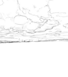 Как-нарисовать-поле-карандашом-поэтапно-3