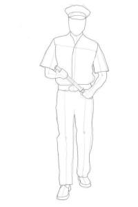 Как-нарисовать-полицейского-карандашом-поэтапно-3