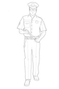 Как-нарисовать-полицейского-карандашом-поэтапно-4