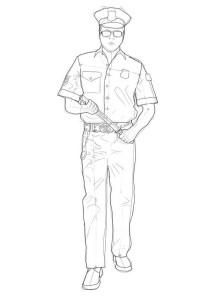 Как-нарисовать-полицейского-карандашом-поэтапно-5