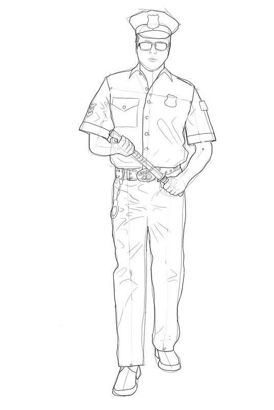 Как нарисовать полицейского?