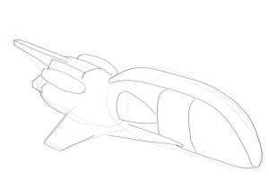 Как-нарисовать-ракету-карандашом-поэтапно-2