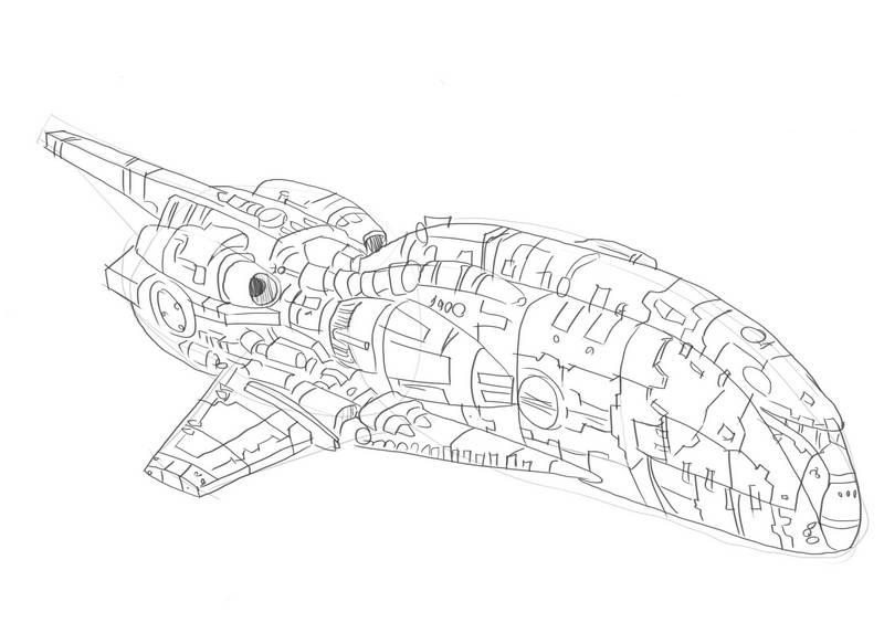 Как нарисовать космическую ракету?