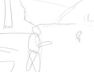 Как-нарисовать-рыбака-карандашом-2