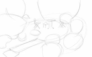 Как-нарисовать-сад-карандашом-поэтапно-1