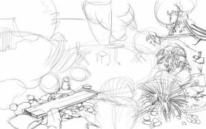 Как-нарисовать-сад-карандашом-поэтапно-3