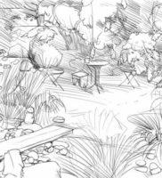 Как нарисовать сад